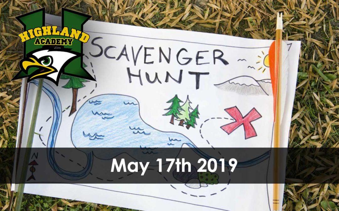 2019 Highland Academy Scavenger Hunt